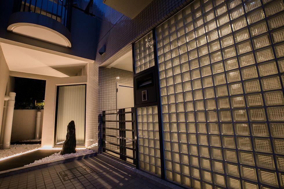 芦屋三条町の家 夕景